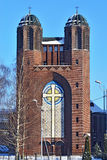 Kreuzkirche - ortodox kyrka i Kaliningrad (till Koenig 1946 royaltyfria foton