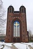 Kreuzkirche - ortodox kyrka i Kaliningrad (till Koenigsberg 1946). Ryssland fotografering för bildbyråer