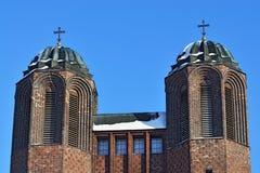Kreuzkirche - ortodox kyrka i Kaliningrad (till Koenigsberg 1946) Ryssland Royaltyfri Fotografi
