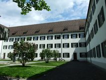 Kreuzlingen Abbey or Kloster Kreuzlingen. Canton of Thurgau, Switzerland royalty free stock photography