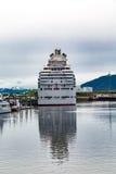 Kreuzschiff in Alaska von achtern Lizenzfreies Stockfoto
