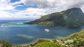 Kreuzschiff auf das Polynesien Stockfoto