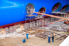Kreuzschiff Drydock Lizenzfreie Stockfotografie