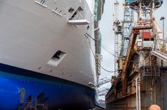 Kreuzschiff Drydock Lizenzfreies Stockfoto