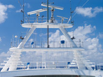 Kreuzschiff im karibischen Meer. Lizenzfreie Stockbilder