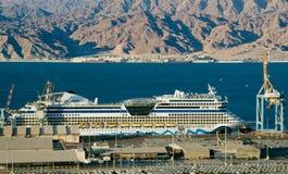 Kreuzschiff im Marinehafen des Roten Meers Stockfotografie