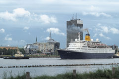 Kreuzschiff in Marine Port Of Riga, Lettland Lizenzfreies Stockbild