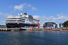Kreuzschiff Massdam koppelte in Sydney, Nova Scotia, Kanada an lizenzfreies stockbild
