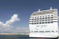 Kreuzschiff MSC Musica Stockbild
