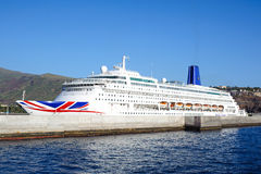 Kreuzschiff Oriana im Hafen von San Sebastian de la Gomera Stockfotografie