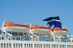 Kreuzschiff-Rettungsboote Lizenzfreie Stockbilder