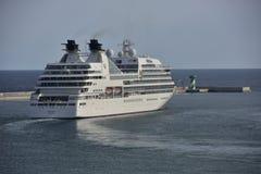 Kreuzschiff Seabourn-vorübergehender Aufenthalt Lizenzfreies Stockfoto