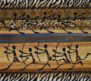 Kreuzstich in der afrikanischen Art Lizenzfreie Stockfotografie