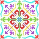 Kreuzstich-Stickereiblumenmuster für nahtlose Musterbeschaffenheit stock abbildung