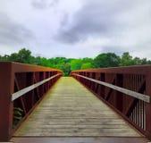 Kreuzung der Brücke stockbild