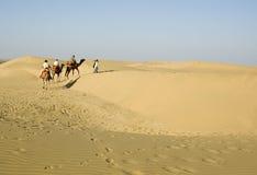 Kreuzung der Thar-Wüste Stockfotografie
