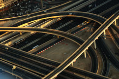 Kreuzung in Dubai (Vereinigte Arabische Emirate) Lizenzfreie Stockfotografie
