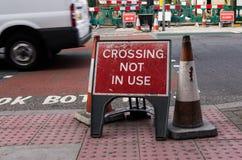 Kreuzung nicht verwendet Stockfotos