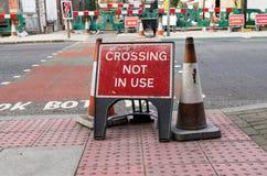 Kreuzung nicht verwendet Stockbild