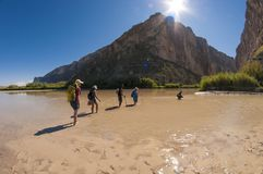 Kreuzung Rio Grande Rivers lizenzfreie stockfotografie