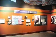 Kreuzungen der Vergangenheitsausstellung am kulturellen Zugdepot des Deltas, Helena Arkansas stockbild