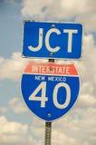 Kreuzungs-Zeichen für I-40 Lizenzfreies Stockbild