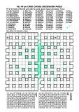 Kreuzweises Wortpuzzlespiel Stockbilder
