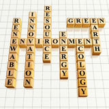 Kreuzworträtsel 25 golden Lizenzfreies Stockbild