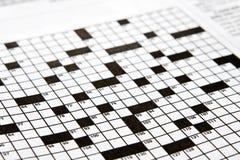 Kreuzworträtsel stockfotos