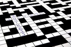 Kreuzworträtsel Stockfoto