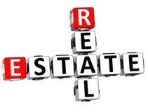 Kreuzworträtsel 3D Real Estate Stockbild
