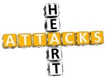 Kreuzworträtsel der Herzinfarkt-3D Lizenzfreies Stockbild