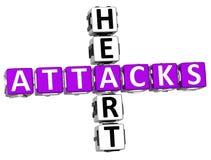 Kreuzworträtsel der Herzinfarkt-3D Lizenzfreies Stockfoto
