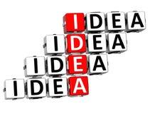 Kreuzworträtsel der Ideen-3D Lizenzfreies Stockbild