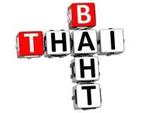 Kreuzworträtsel des thailändischen Baht-3D Lizenzfreie Stockbilder