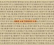 Kreuzworträtsel-Durchbruch Stockbilder
