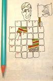 Kreuzworträtsel für Kinder Lizenzfreies Stockfoto