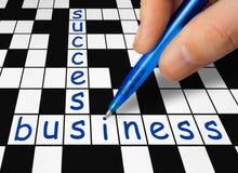 Kreuzworträtsel - Geschäft und Erfolg lizenzfreie stockfotografie
