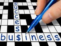 Kreuzworträtsel - Geschäft und Erfolg Lizenzfreies Stockbild