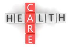 Kreuzworträtsel-Gesundheitswesen Lizenzfreies Stockfoto