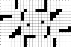 Kreuzworträtsel-Muster 1 lizenzfreie stockbilder