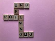 Kreuzworträtsel von Internet-Slangausdrücken stockbild