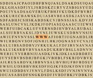 Kreuzworträtsel-WWW Stockfotografie