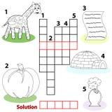 Kreuzworträtselwortspiel für Kinder Lizenzfreie Stockfotografie