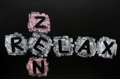 Kreuzworträtsel des Zen entspannen sich Lizenzfreie Stockfotografie