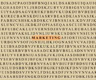Kreuzworträtsel-Marketing Stockfoto