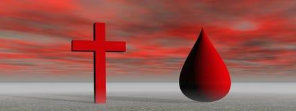krew krzyż royalty ilustracja