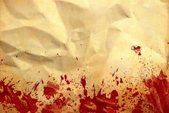 krew miący stary papierowy czerwony pluśnięcie Obraz Stock