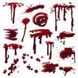 Krew splatters Zdjęcia Stock