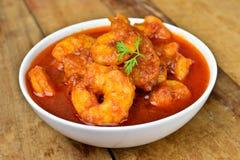 Krewetka curry Zdjęcie Royalty Free